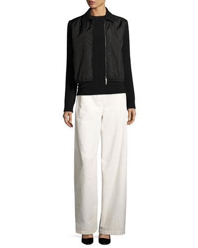 Werto Cotton Wide-Leg Pants, White and Matching Items