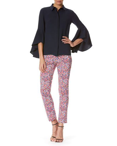 Polka-Dot Cigarette Pants, Multicolor and Matching Items