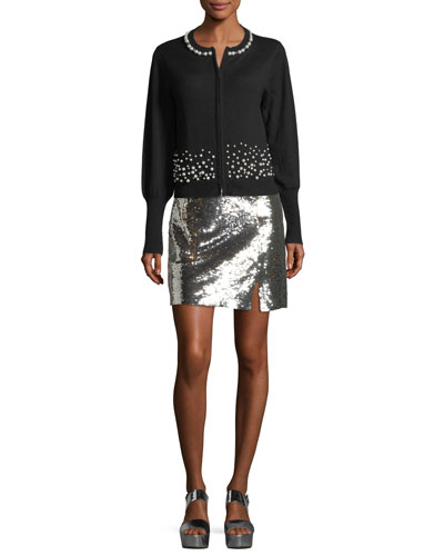 Showtime Front-Slit Sequin Mini Skirt and Matching Items
