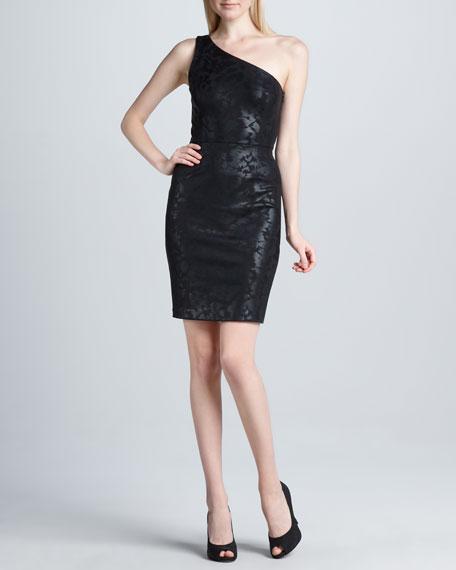 Shoulder Foil Sheath Dress One Shoulder Shoulder One Foil Sheath Sheath One Foil Dress 1uT5KJc3Fl