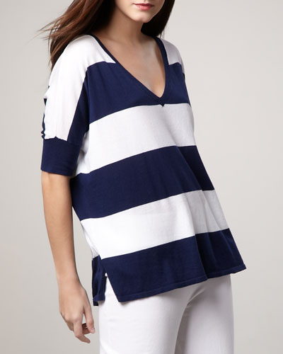 Wide-Stripe Top