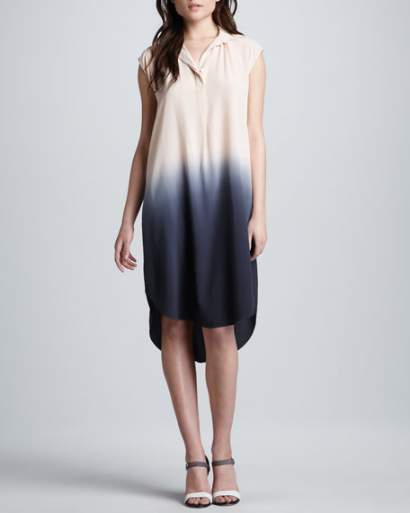 5ddf0c035f3de Rebecca Taylor Ombre Silk Shift Dress. Ombre Silk Shift Dress