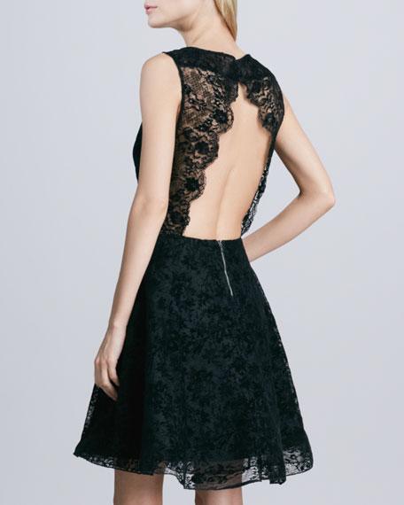 b3415f906da Alice + Olivia Natalia Open-Back Lace Dress