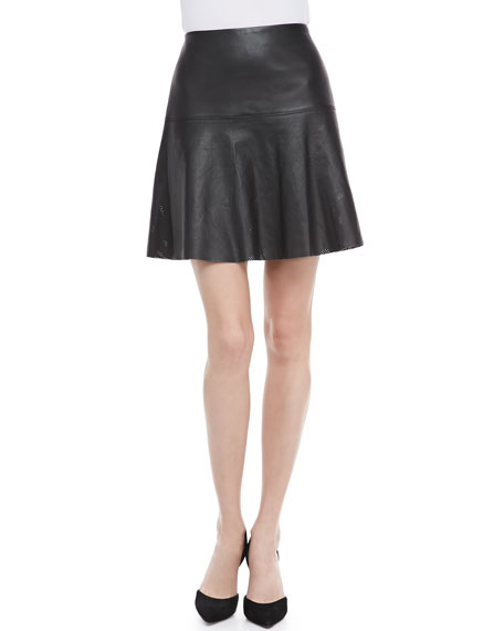 8ffa4d82c6 Vince Perforated Leather Skirt