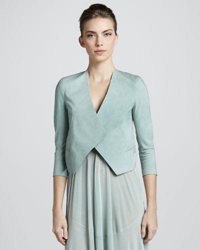 Folded Crepe Jacket, Jade