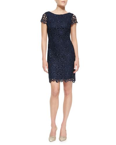 Clover Lace Back-Cutout Dress
