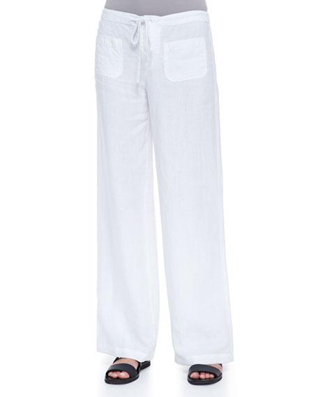 bb395f2e0c Vince Drawstring Linen Beach Pants