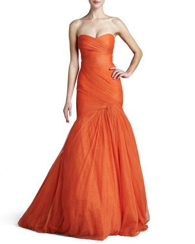 Strapless Trumpet Gown