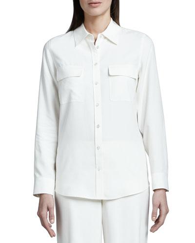 Safari Long-Sleeve Silk Shirt
