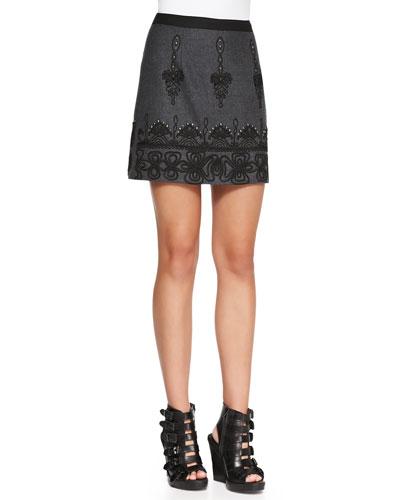 Whirling Dervish Embroidered Miniskirt