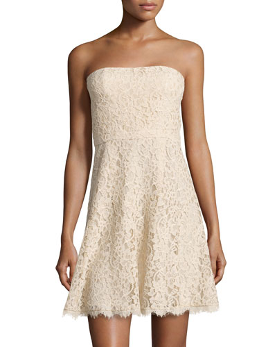 Strapless A-line Lace Dress