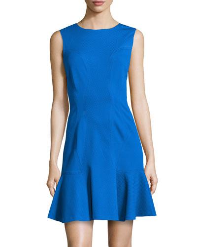 Jaelyn Flare-Hem Ponte Dress