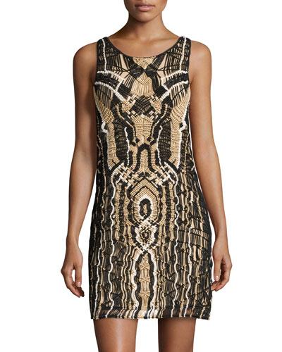 Neapoli Shimmer Woven Dress, Black/New Pearl/Gold