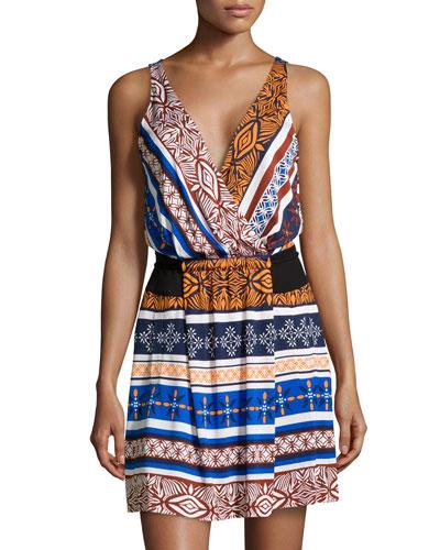 Oblixe Chiffon Wrap Dress, Desert Bands
