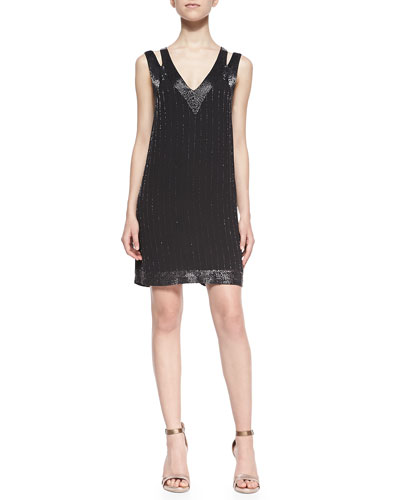 Francoise Beaded Double-Strap Dress