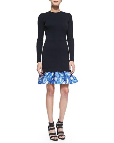 Tate Ruffle-Hem Dress