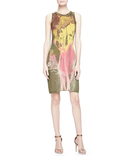Metallic Smoke Jacquard Dress