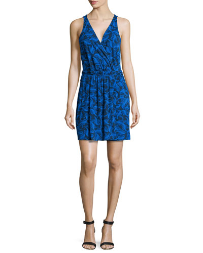 Oblixe Sleeveless Printed Wrapped Dress
