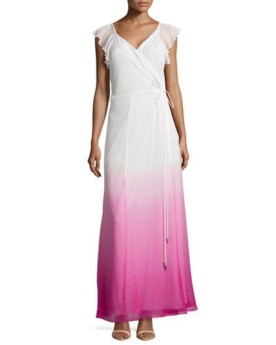 Delancey Ombre Wrap Maxi Dress