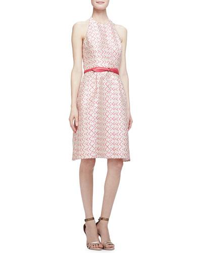 Sleeveless Halter-Neck A-Line Dress