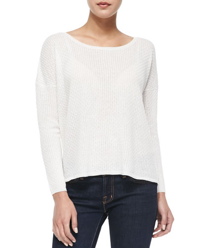 Talaith Patterned Drop-Sleeve Sweater
