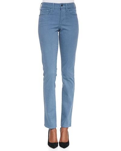 Samantha High-Rise Slim Sateen Jeans
