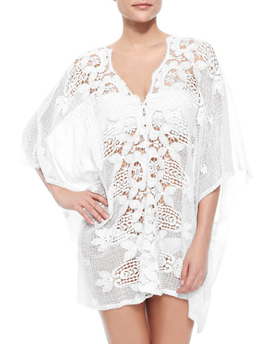 Kara Netted/Lace Caftan Coverup