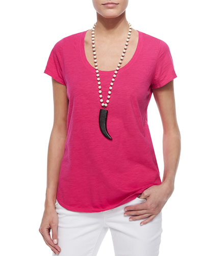 Short-Sleeve Scoop-Neck Tee