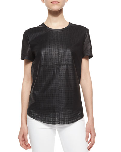Short-Sleeve Perforated Tee