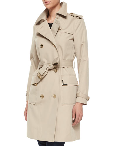 Beverly Short Sateen Trench Coat