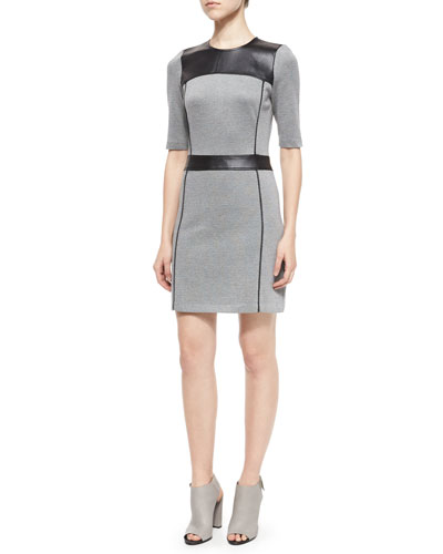 Calvino Elmore Combo Dress, Herringbone