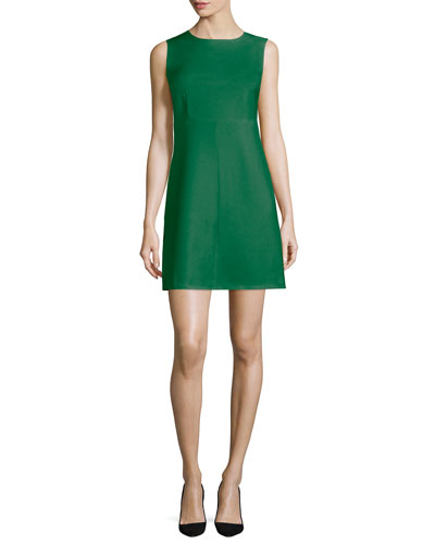 Carrie Sleeveless Sheath Dress, Emerald