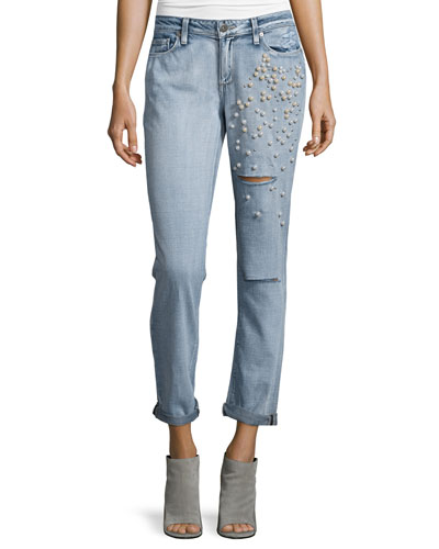 Jimmy Jimmy Embellished Cropped Jeans, Dolly