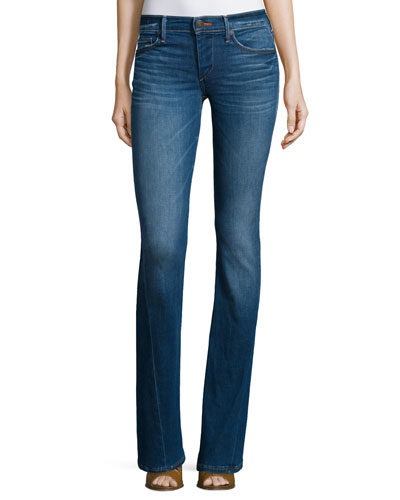 Becca Mid-Rise Boot-Cut Jeans, Crystal Springs
