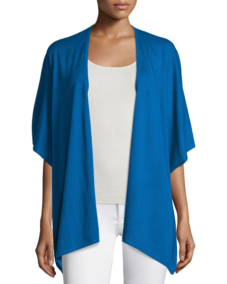 Neiman Marcus Cashmere Collection Silk/Cashmere Kimono Cardigan