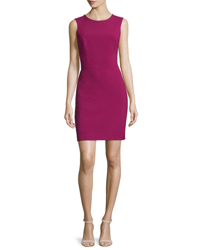 Sleeveless Crisscross-Back Sheath Dress