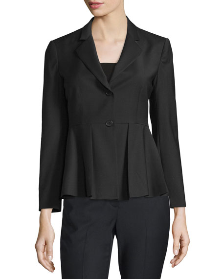 3055b74669f5 Theory Braneve Continuous Wool-Blend Jacket, Black