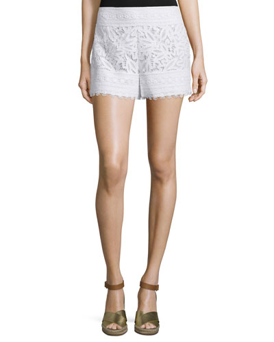 Kinsley Crocheted-Lace Shorts