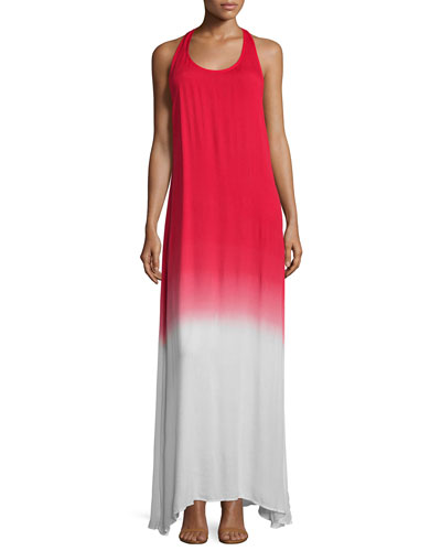Dite Sleeveless A-Line Maxi Dress, Fire Ombre