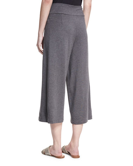 Cozy Wide-Leg Pull-On Pants