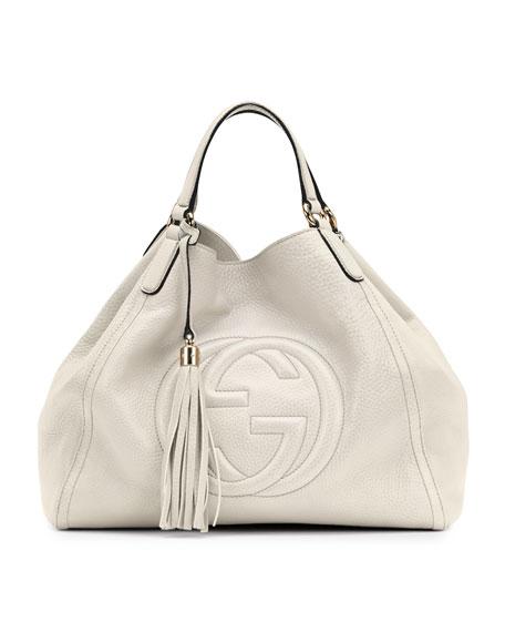 5ee625180d88 Gucci Soho Shoulder Bag, Off White