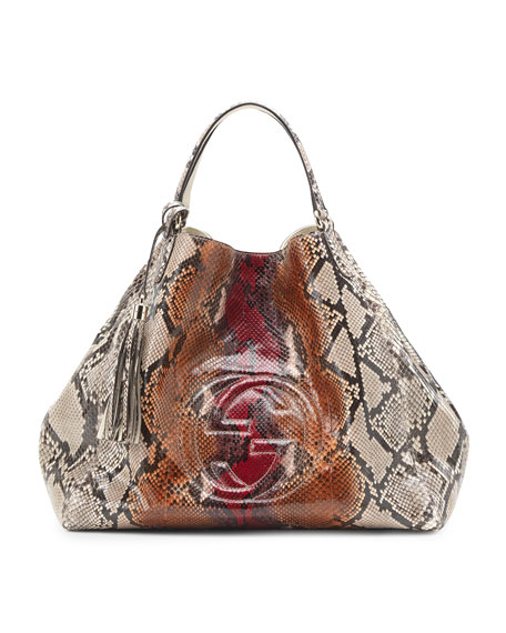 a7aae5dbe7ea Gucci Soho Python Shoulder Bag