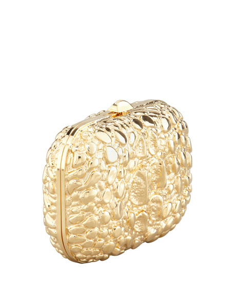 Crocodile-Textured Minaudiere