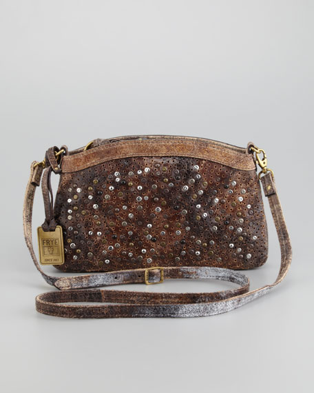 Deborah Studded Crossbody Bag Chocolate