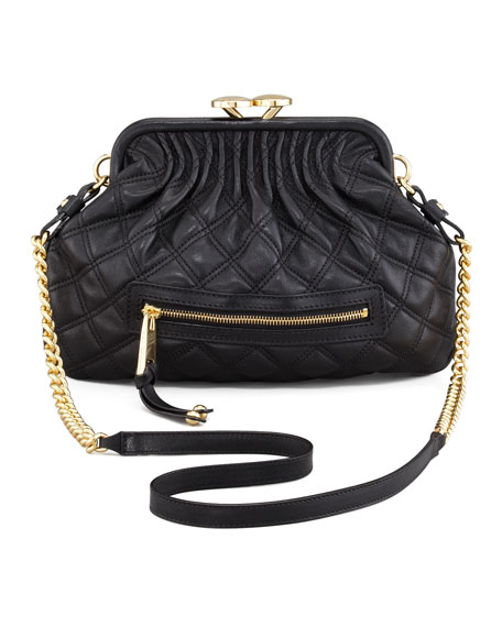 37ca699a306 Marc Jacobs Stam Little Quilted Leather Crossbody Bag, Black