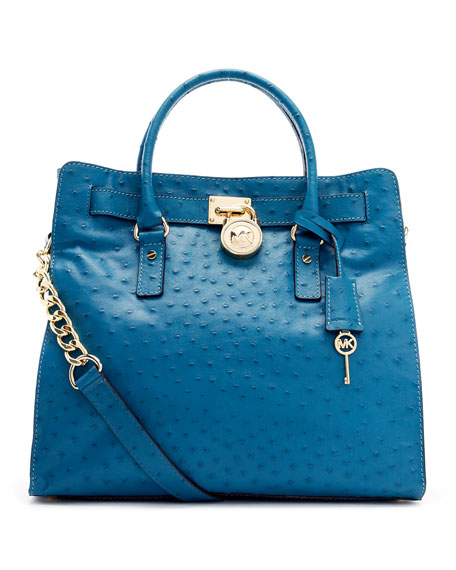Large Hamilton Ostrich Embossed Tote Bag