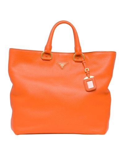Daino Tote Bag, Orange (Papaya)