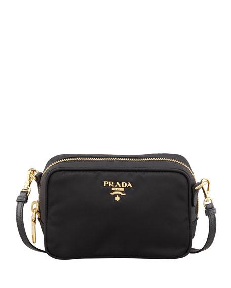 df6a4378433c Prada Tessuto Small Crossbody Bag, Black (Nero)