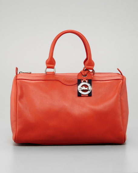 Sultan Leather Bowler Bag Paprika