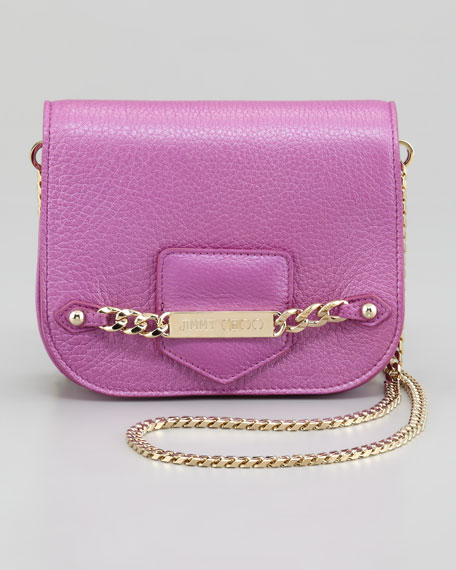3eaf992535 Jimmy Choo Shadow Metallic Crossbody Bag, Orchid